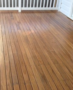 Deck sanded & finished with natural oil.