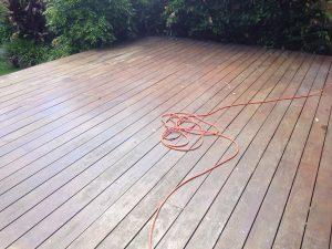 Before sanded deck.